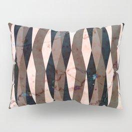 Peachy marble (full view) Pillow Sham