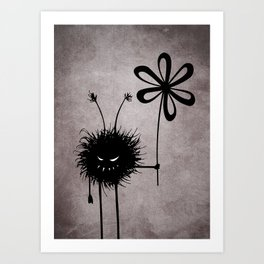 Evil Flower Bug Art Print
