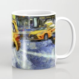 New York Taxis Art Coffee Mug