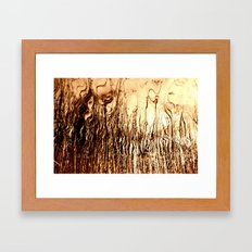 Where water meets fire Framed Art Print