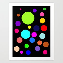 Circles on Black Art Print