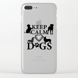 Keep Calm Love Dogs Clear iPhone Case