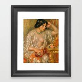 Auguste Renoir - Gabrielle With Jewellery Framed Art Print