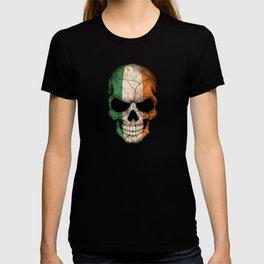 Dark Skull with Flag of Ireland T-shirt