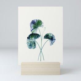 Water lily leaves Mini Art Print