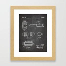 Judge Gavel Patent - Lawyer Art - Black Chalkboard Framed Art Print