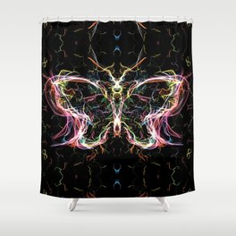 Radiant lighting butterfly Shower Curtain