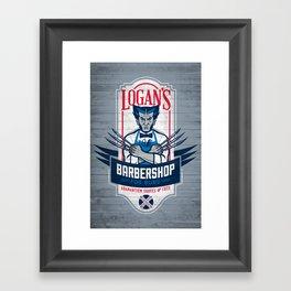 Logan's Barbershop Framed Art Print