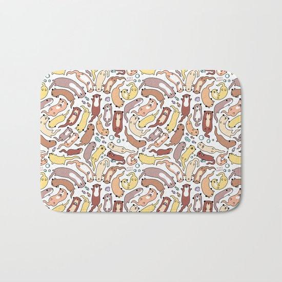 Adorable Otter Swirl Bath Mat