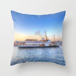Pleasure Cruise Boat Istanbul Throw Pillow