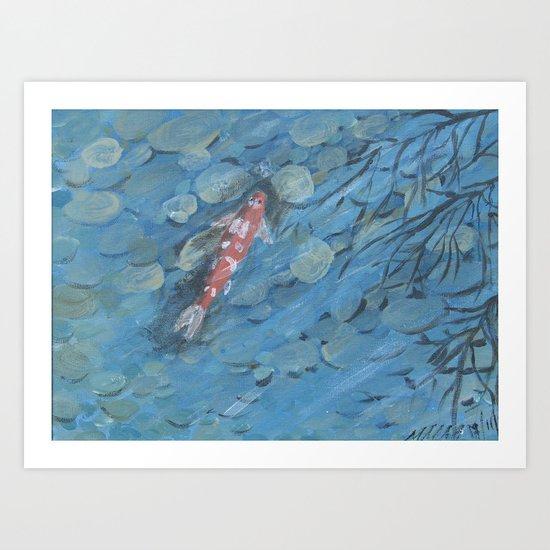 Little Koi Art Print