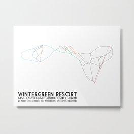 Wintergreen Resort, VA - Minimalist Trail Art Metal Print