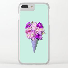 Flower Flurry II Clear iPhone Case
