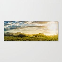 Sunrise over the farm Canvas Print