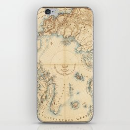 Map of the Arctic and Adjacent Regions (1855) iPhone Skin