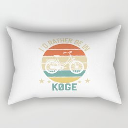Køge I'd rather be in denmark. TShirt Bicycle Shirt Bike Gift Idea  Rectangular Pillow