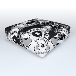YinYang Sacred Geometry Totem Outdoor Floor Cushion