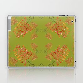 Orchids on Olive Green Laptop & iPad Skin