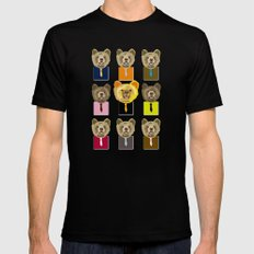 Little bear with tie Black MEDIUM Mens Fitted Tee