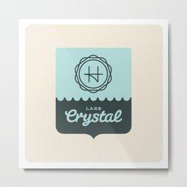 Crystal Lake – Badge Metal Print