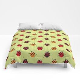 Lady Bug Yellow Comforters
