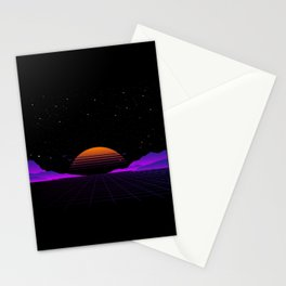 Vaporwave Outrun | Eighties Style Stationery Cards