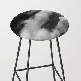 Clouds in black and white Bar Stool