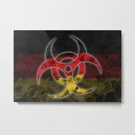 Biohazard Germany, Biohazard from Germany, Germany Quarantine Metal Print