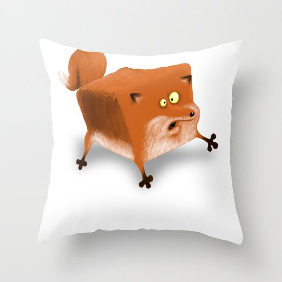 Box in a Fox Throw Pillow