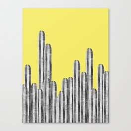 Watercolor of cacti XVIII Canvas Print