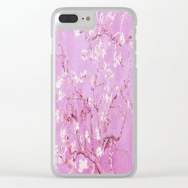 Vincent Van Gogh Almond BlossomS. Pink Lavender Clear iPhone Case