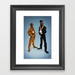 Let the Rythm Hit'em Framed Art Print