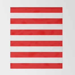 Stripe Red White Throw Blanket