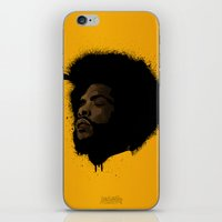 tupac iPhone & iPod Skins featuring Questlove 2.0 by The Art Warriors