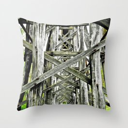 Train of Lines. Throw Pillow