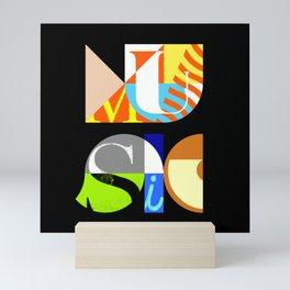 Music Typography Mini Art Print