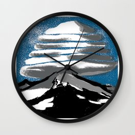 Lenticular Clouds. Wall Clock