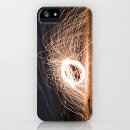 Woolspinning at the Beach iPhone Case
