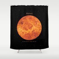 venus Shower Curtains featuring Venus by Terry Fan