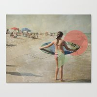 surfer Canvas Prints featuring Surfer  by Mary Kilbreath