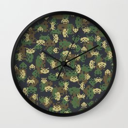 Invaded Camo WOODLAND Wall Clock