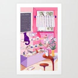 Cutie Catterie - sweet kitty bakery Art Print
