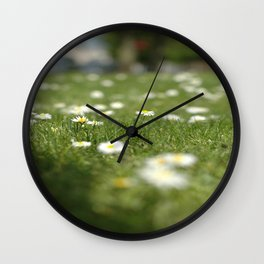 Daisies of Brussels Wall Clock