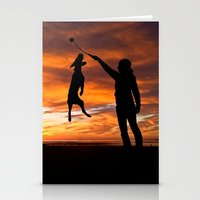 workout Stationery Cards featuring Sunset Workout by Sandy Broenimann