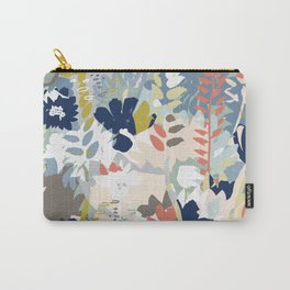Modern floral seamless vector design. Hand drawn textures. Pastel colors. Carry-All Pouch