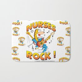 Nurses Rock Pattern Bath Mat