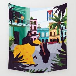Havana ft. Salsa Dancers Wall Tapestry