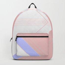 Pastel Pattern Lines Decorative Design Backpack