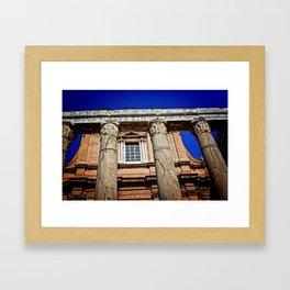 The Temple of Antonius & Faustina Framed Art Print