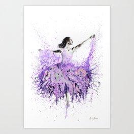 French Garden Ballet Art Print